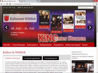 Screenshot der Website der Verbandsgemeinde Thalfang